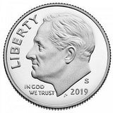 2019 S Roosevelt Dime - 99.9% SILVER Proof