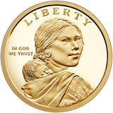 "2020 S Proof Native American ""Anti-Discrimination"" Golden Dollar $1"