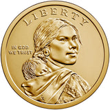 "2020 P&D Native American ""Anti-Discrimination"" Golden Dollar $1 Uncirculated Set"