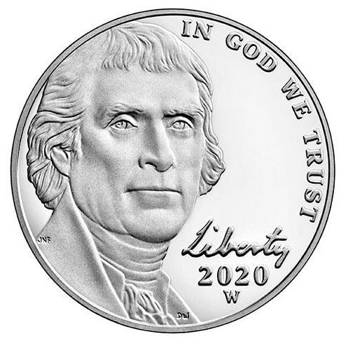 2020 W Jefferson Nickel - Proof