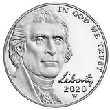 2020 W Jefferson Nickel - Reverse Proof