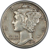 Mercury Dime 1916-1945 Winged Liberty Silver