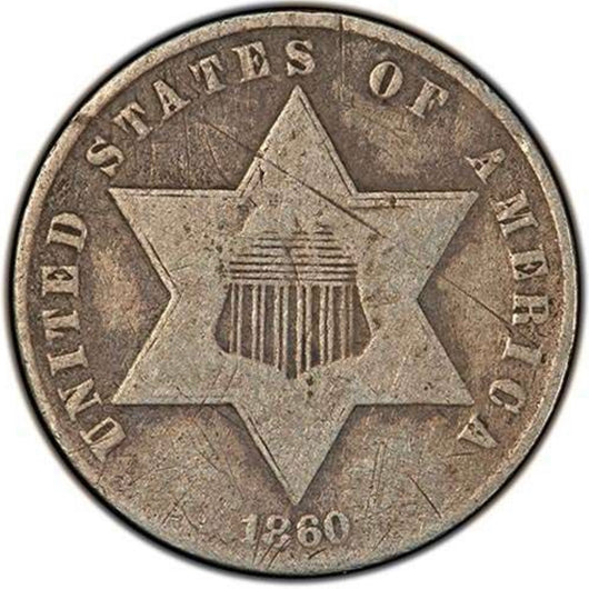 Three Cent Silver 1851-1873 Average Circulated
