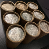 Sealed $20 Roll Silver Dollars Morgan/Peace 1878-1935 Circ With BU End