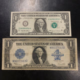 1923 Large Size $1 Silver Certificate Old Money Blue Seal
