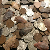 ✯ Native American Coin Artifact Estate Lot ✯ Indian Head Cent Buffalo Nickel Arrowhead ✯