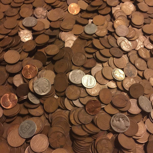 1 LB Pound Unsearched Lincoln Wheat Cents 1909-1958 – Old