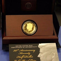 2014 W Anniversary Gold Kennedy Proof Half Dollar K15