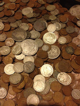 1/4 Pound LB Estate Sale Lot Old US Coins From Hoard Silver