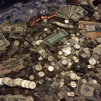 Estate Lot Old US Coins & Currency Silver Gold (Base Level)