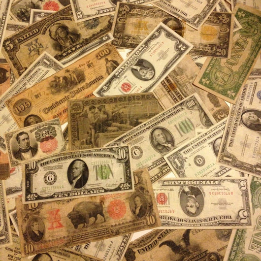 Old Mixed Currency Bulk Lot Gold/Silver Certificate Red Seal