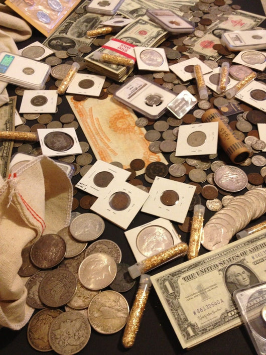 eff6507c0be18 Estate Sale Old US Coins & Currency Lot Silver Gold PCGS (Premier ...