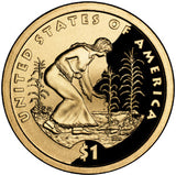 "2009 S Proof Native American ""Agriculture"" Golden Dollar $1"