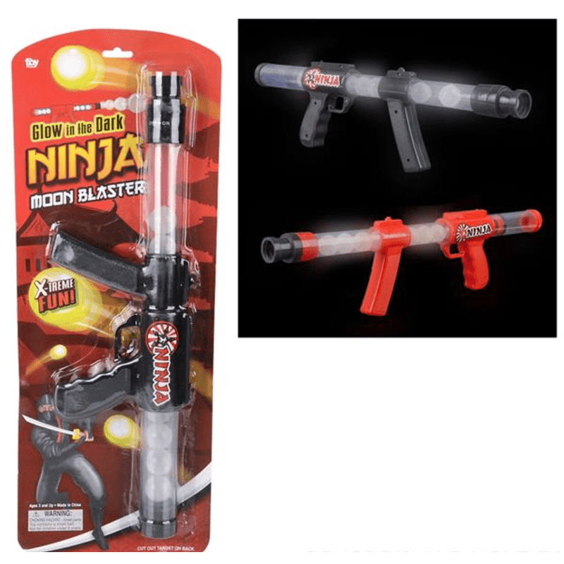 "19"" GLOW IN THE DARK NINJA MOON BLASTER CARDED - ANTHILL shopNplay"