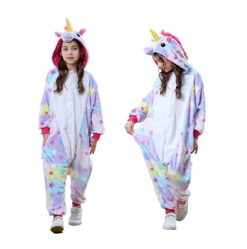Kids Unisex Animal Onesies - Pastel Unicorn 3-5 Years