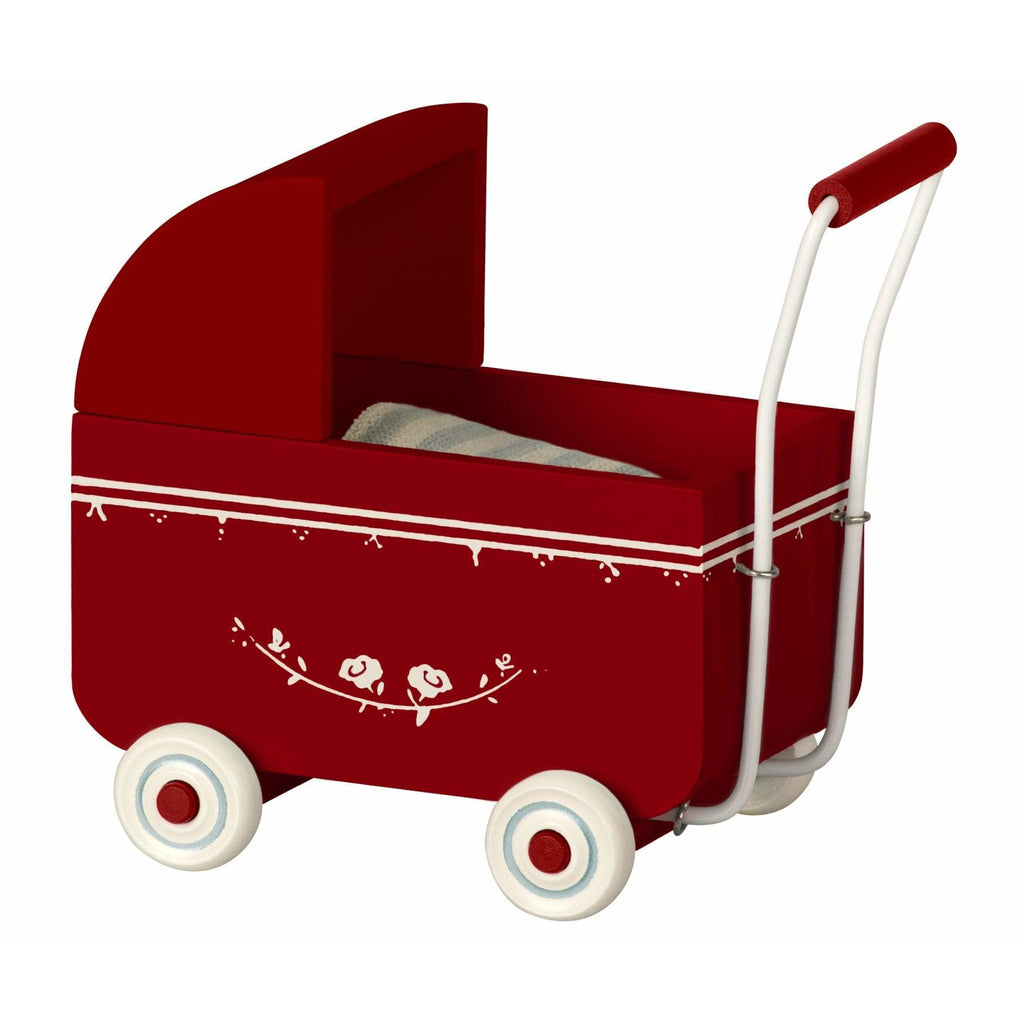 Pram For My Baby With Quilt, Red
