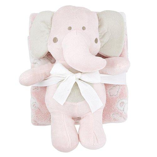 Blanket/Toy Set Elephant Pink