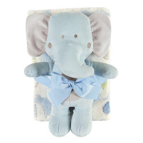 Blanket/Toy Set Elephant Blue