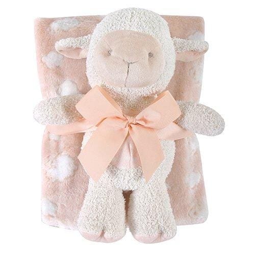 Blanket/Toy Set Lamb Pink