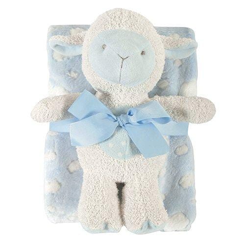 Blanket/Toy Set Lamb Blue