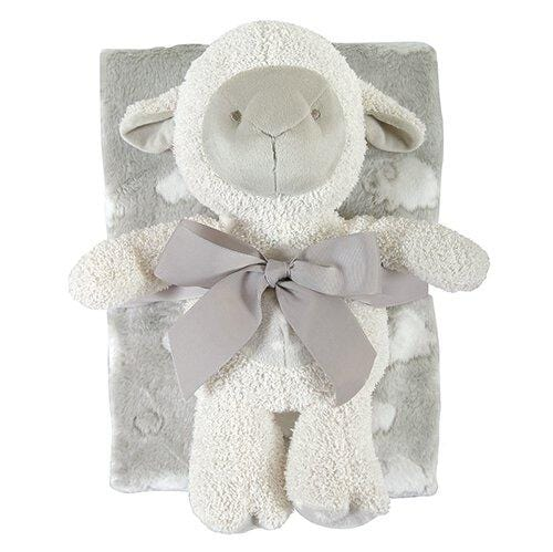 Blanket/Toy Set Lamb Gray