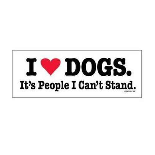 """I (heart) Dogs. It's People I Can't Stand."" Bumper Magnet"
