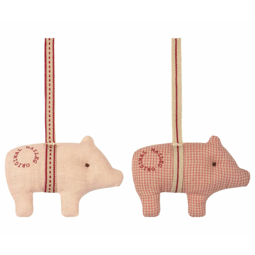 Pig Ornament 2/Asst Colors - ANTHILL shopNplay