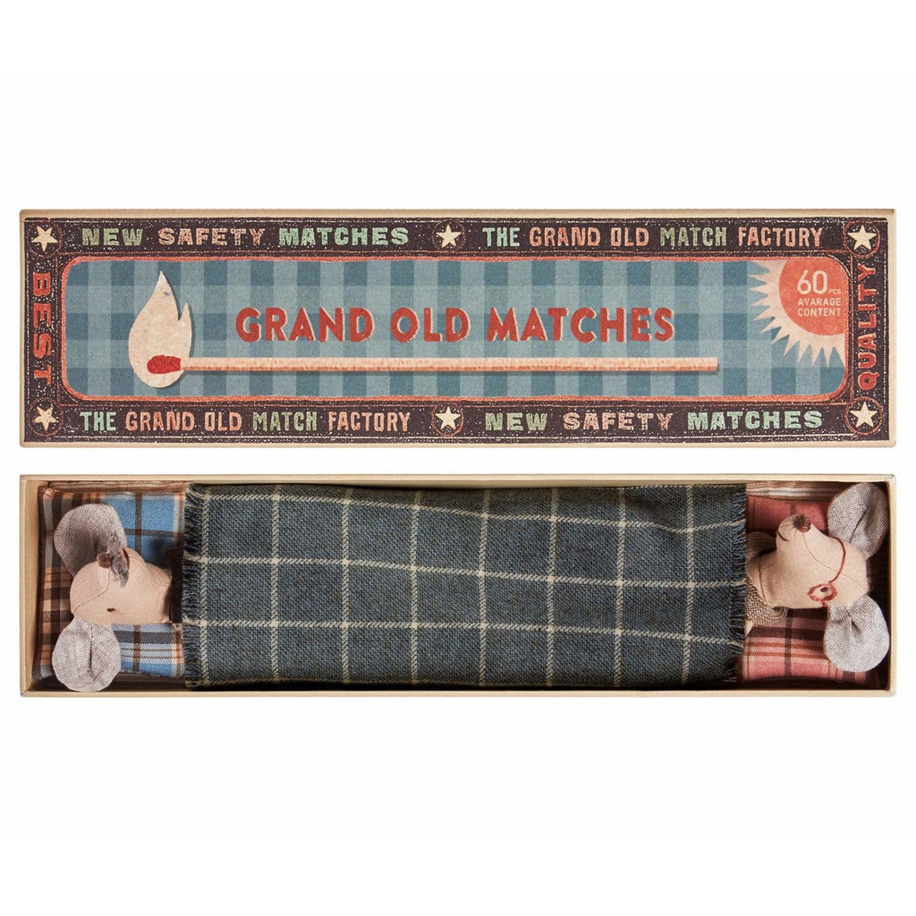 Mice Grandpa & Grandma In Matchbox - ANTHILL shopNplay