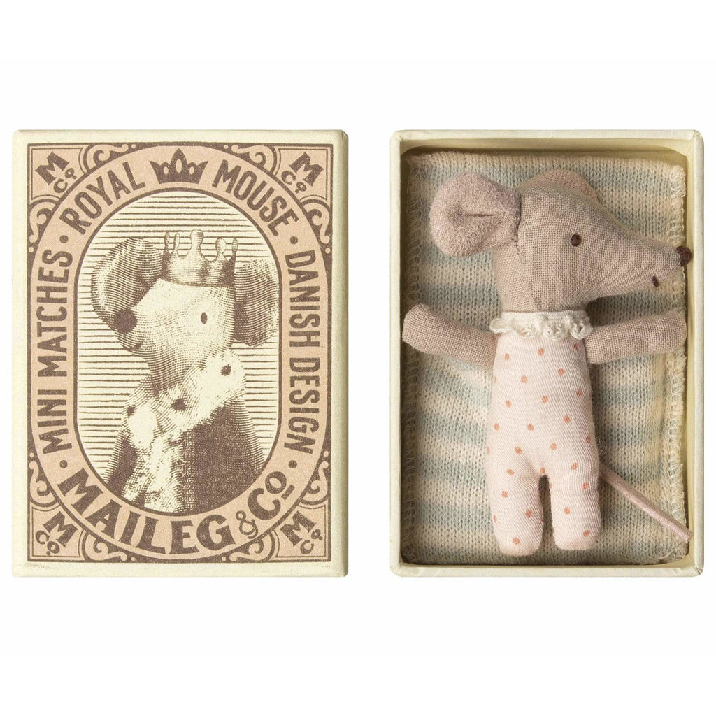Baby Mouse, Sleepy/Wakey In Box - Girl - ANTHILL shopNplay