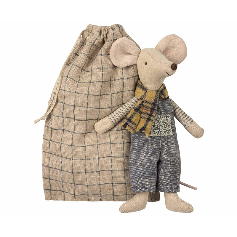 Winter Mouse Father In Bag