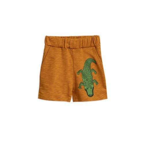 Brown Croco Sweatshorts