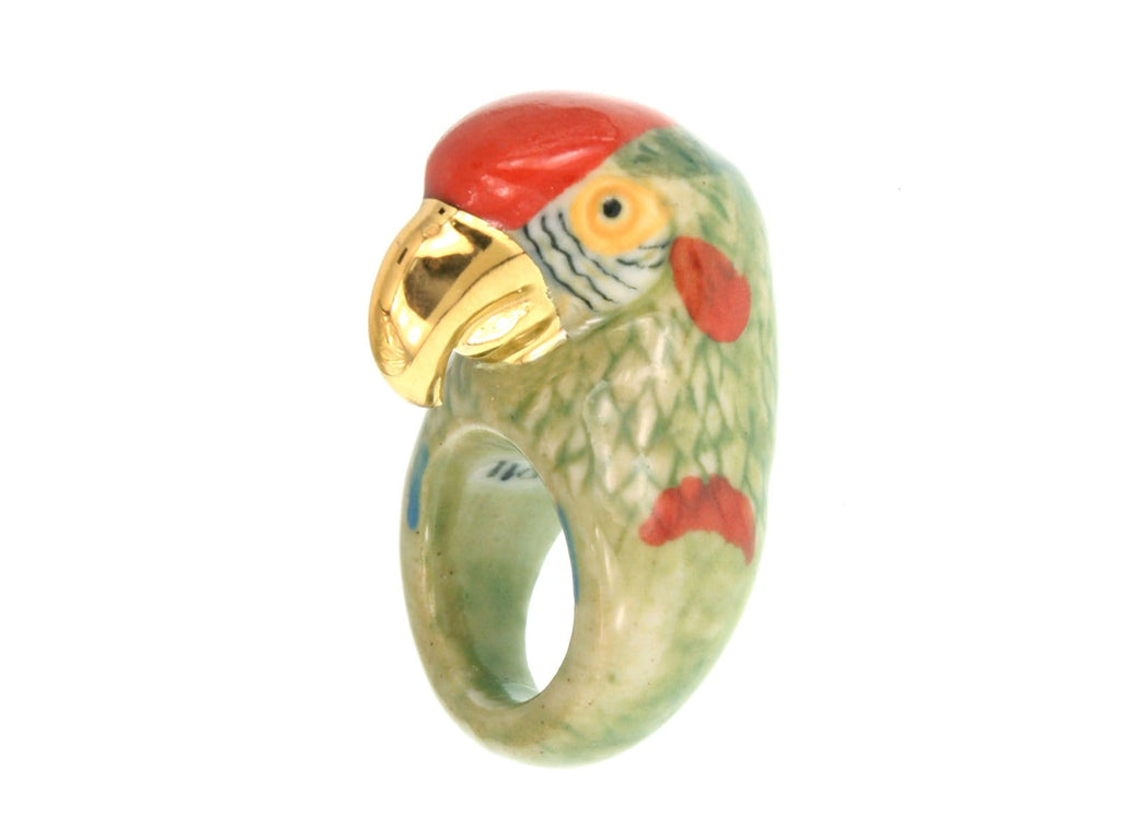 Medium Parrot Ring Gold/Green