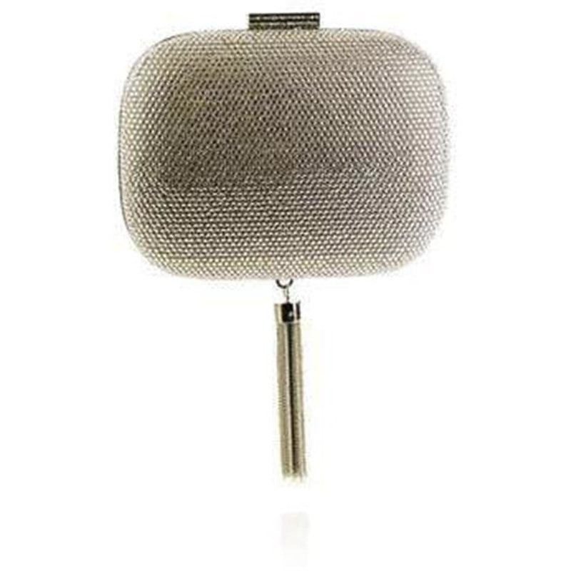 'Manuela' Embellished Clutch in Crystal - ANTHILL shopNplay
