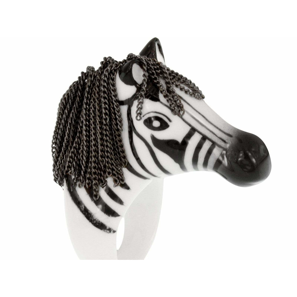 Zebra with Hair Ring