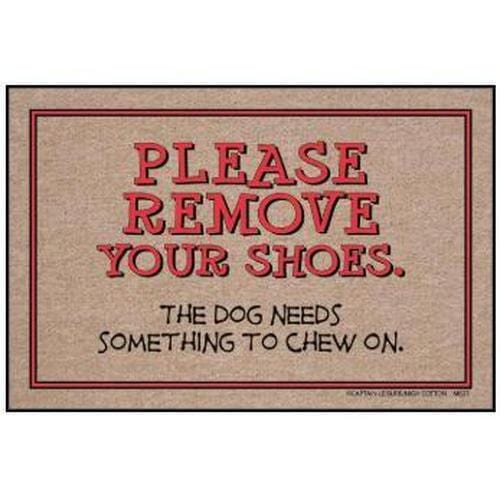 """Please Remove Your Shoes."" Welcome Mat"