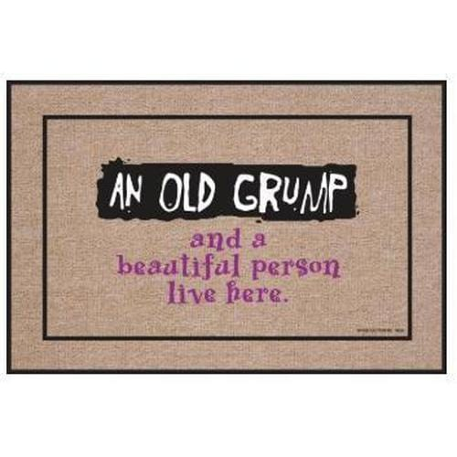 """Old Grump"" Welcome Mat"