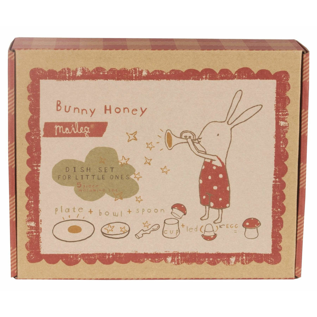 Bunny Honey Melamine 6 Pcs Set In Giftbox - ANTHILL shopNplay