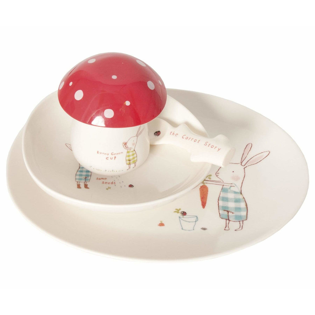 Bunny Green Melamine 6 Pcs Set In Giftbox - ANTHILL shopNplay