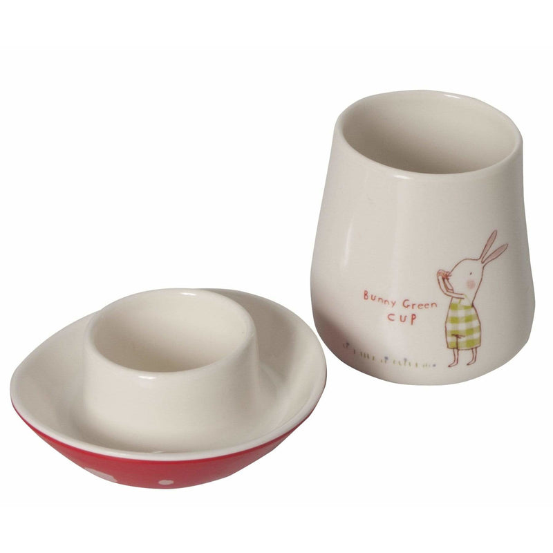 Bunny Green Melamine Cup W/Lid - ANTHILL shopNplay