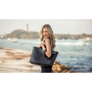 'Angelica' Large Tote in Black - ANTHILL shopNplay