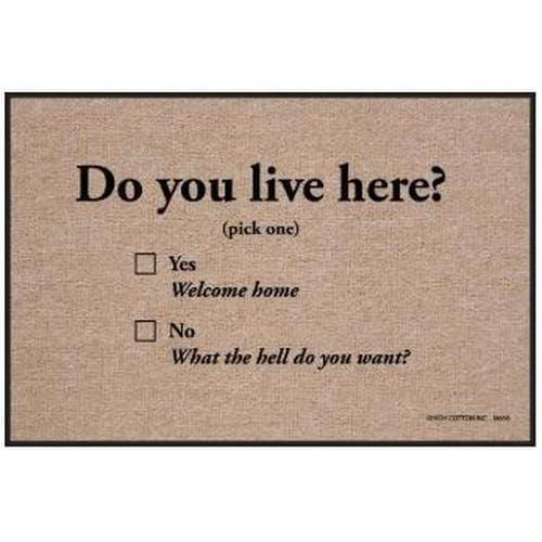 Do You Live Here? Mat