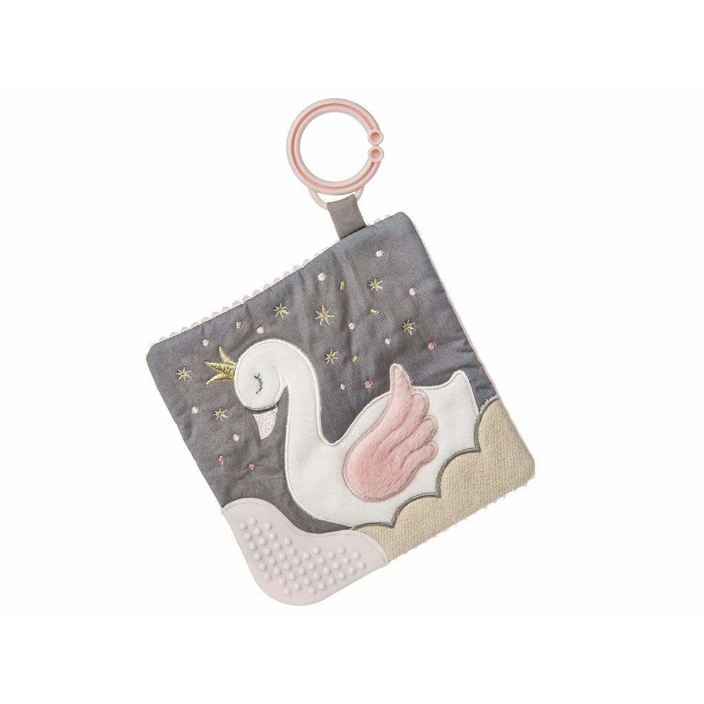 Itsy Glitzy Swan Crinkle Teether