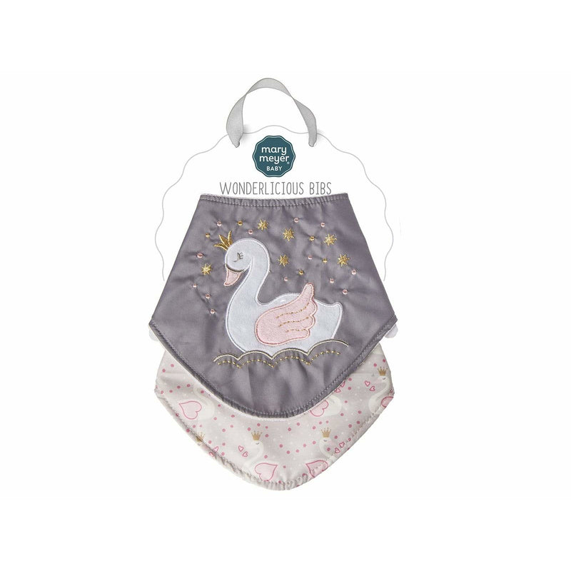 Itsy Glitzy Swan Bibs - 2pcs Set - ANTHILL shopNplay