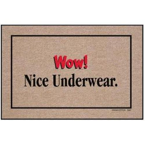 """Wow! Nice Underwear."" Doormat"