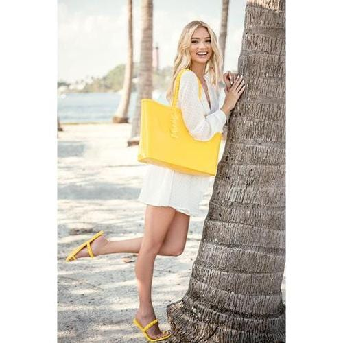 'Angelica' Large Tote in Yellow - ANTHILL shopNplay
