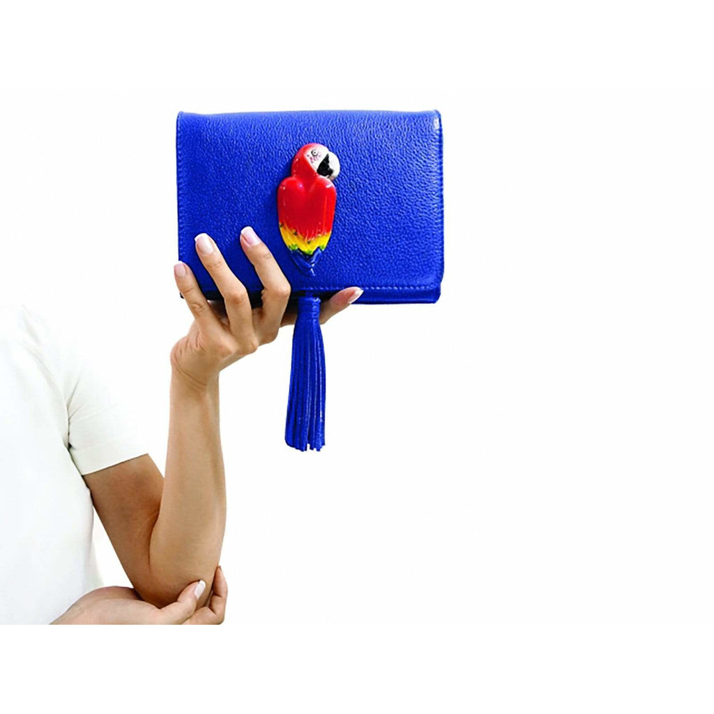 Blue Madame Bag - Parrot