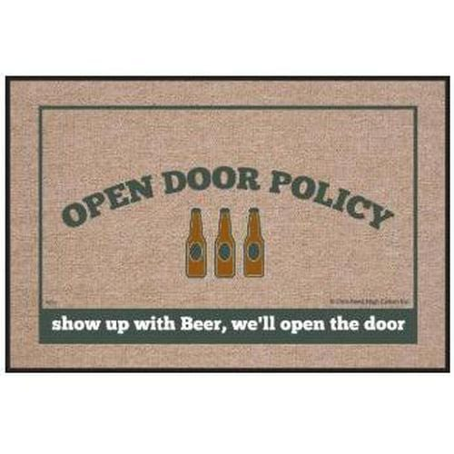 """Open Door Policy"" Welcome Mat"