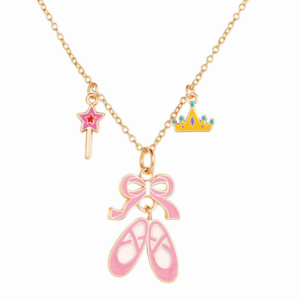 Charming Whimsy Necklace- Ballet Shoes
