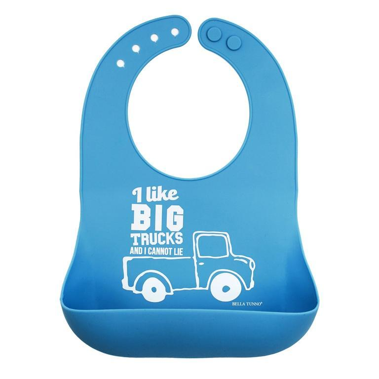 Big Trucks Wonder Bib - Light Blue