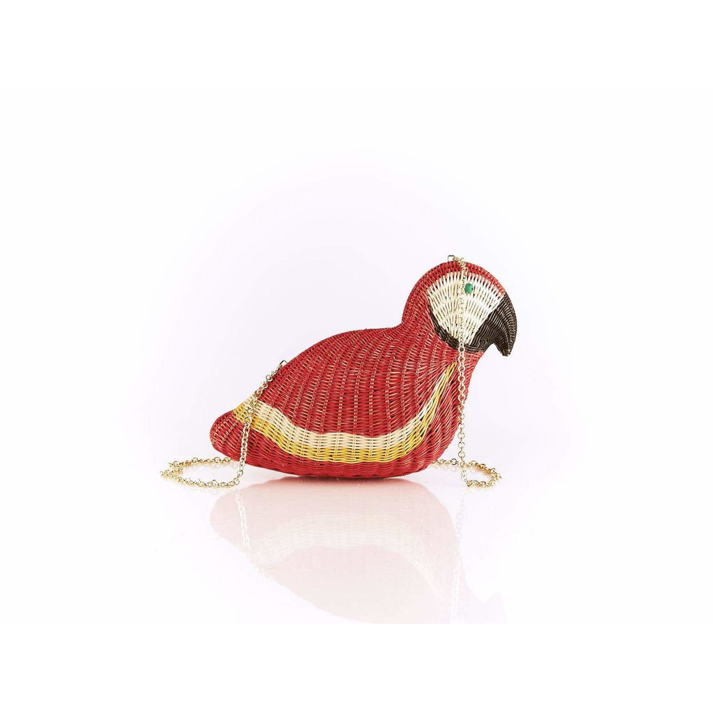 Macaw Bag in Wicker Red